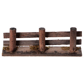 Nativity scene accessory, wooden fence s4