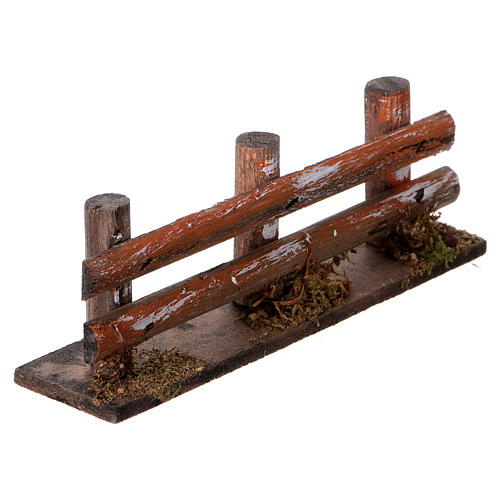 Nativity scene accessory, wooden fence 3
