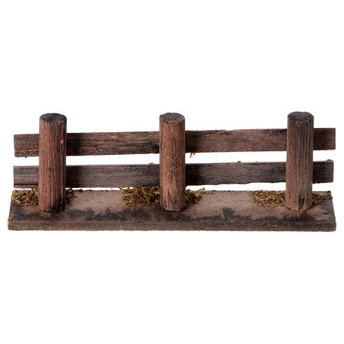 Nativity scene accessory, wooden fence 4