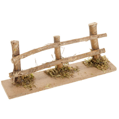 Nativity scene accessory, wooden fence 1