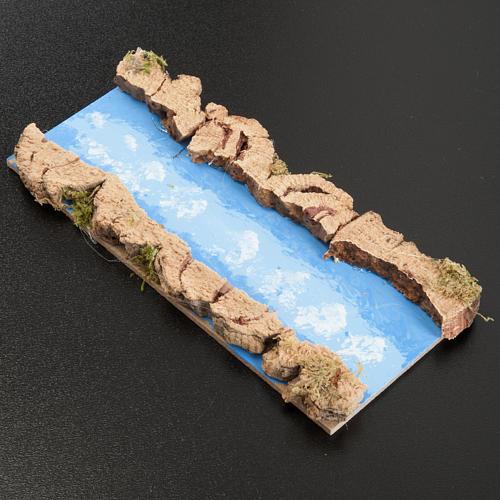 Accessoire crèche, fleuve droit 16x7 cm 2