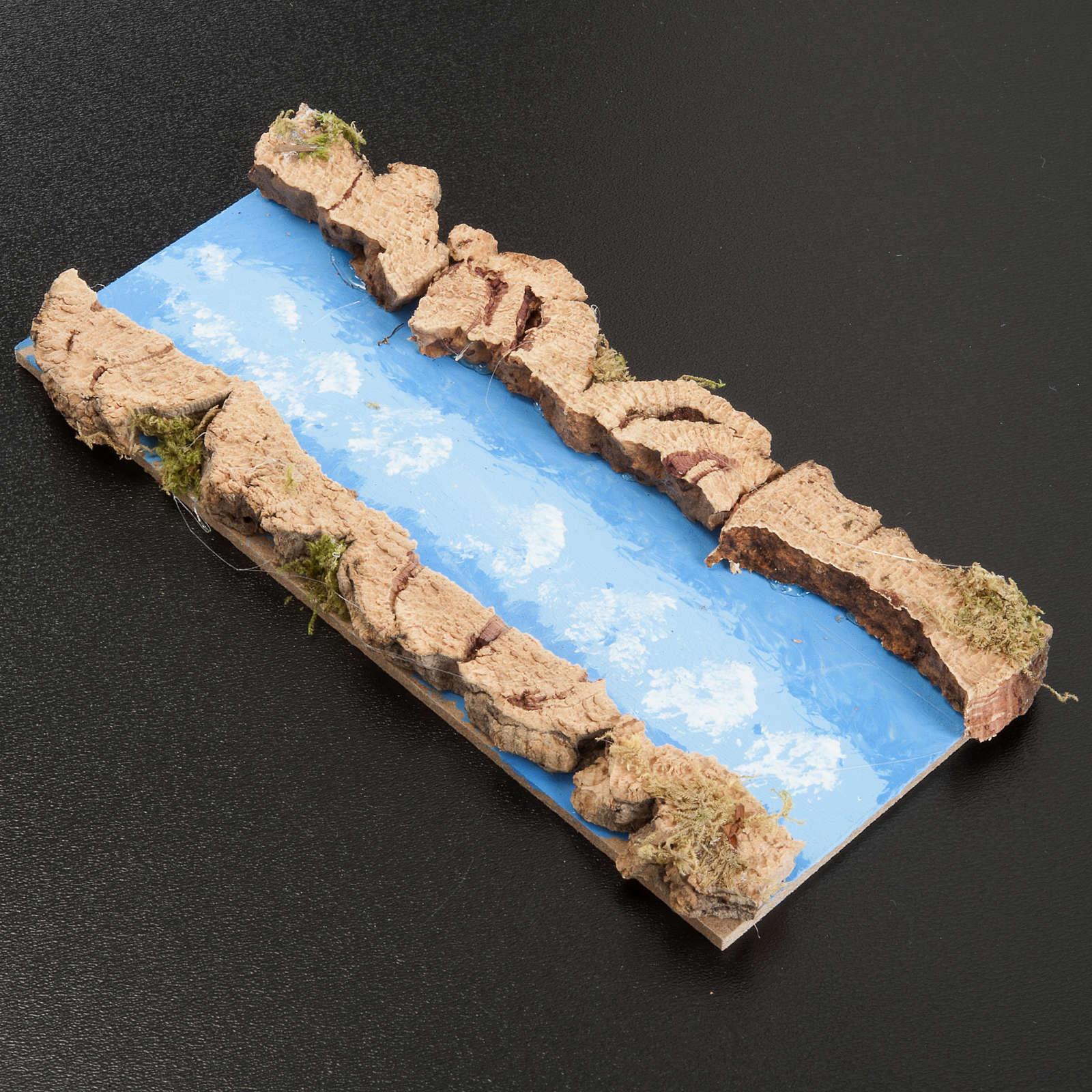 Troço de rio reto 16x7 cm 4