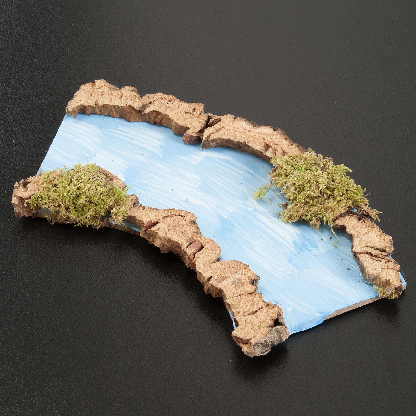 Tratto di fiume curvo 16x7 cm 4