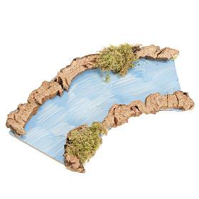 Tratto di fiume curvo 16x7 cm s1