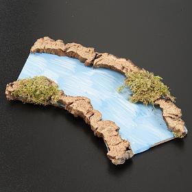 Tratto di fiume curvo 16x7 cm s2