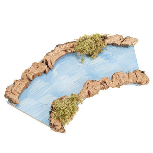 Tratto di fiume curvo 16x7 cm 1