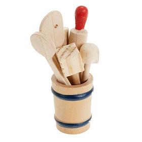 Accessori presepe per casa: Vaso utensili da cucina set 7 pezzi