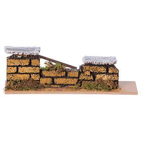 Muretto mattoni presepe 15x5x3 cm (modelli assortiti) s1