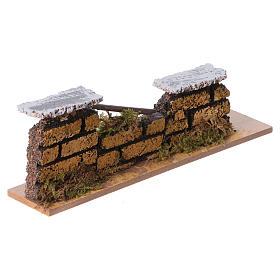 Muretto mattoni presepe 15x5x3 cm (modelli assortiti) s3