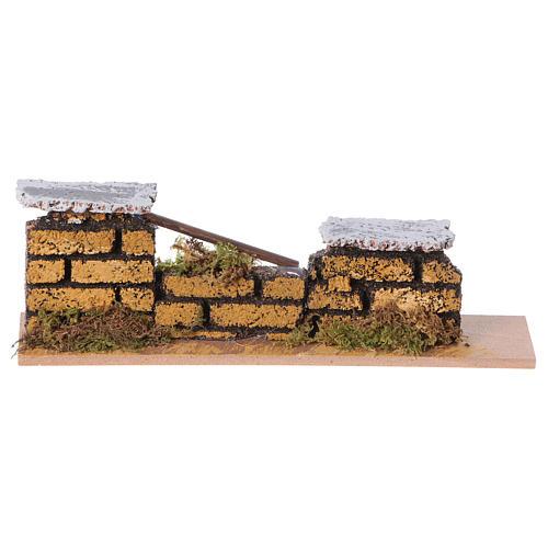 Muretto mattoni presepe 15x5x3 cm (modelli assortiti) 1