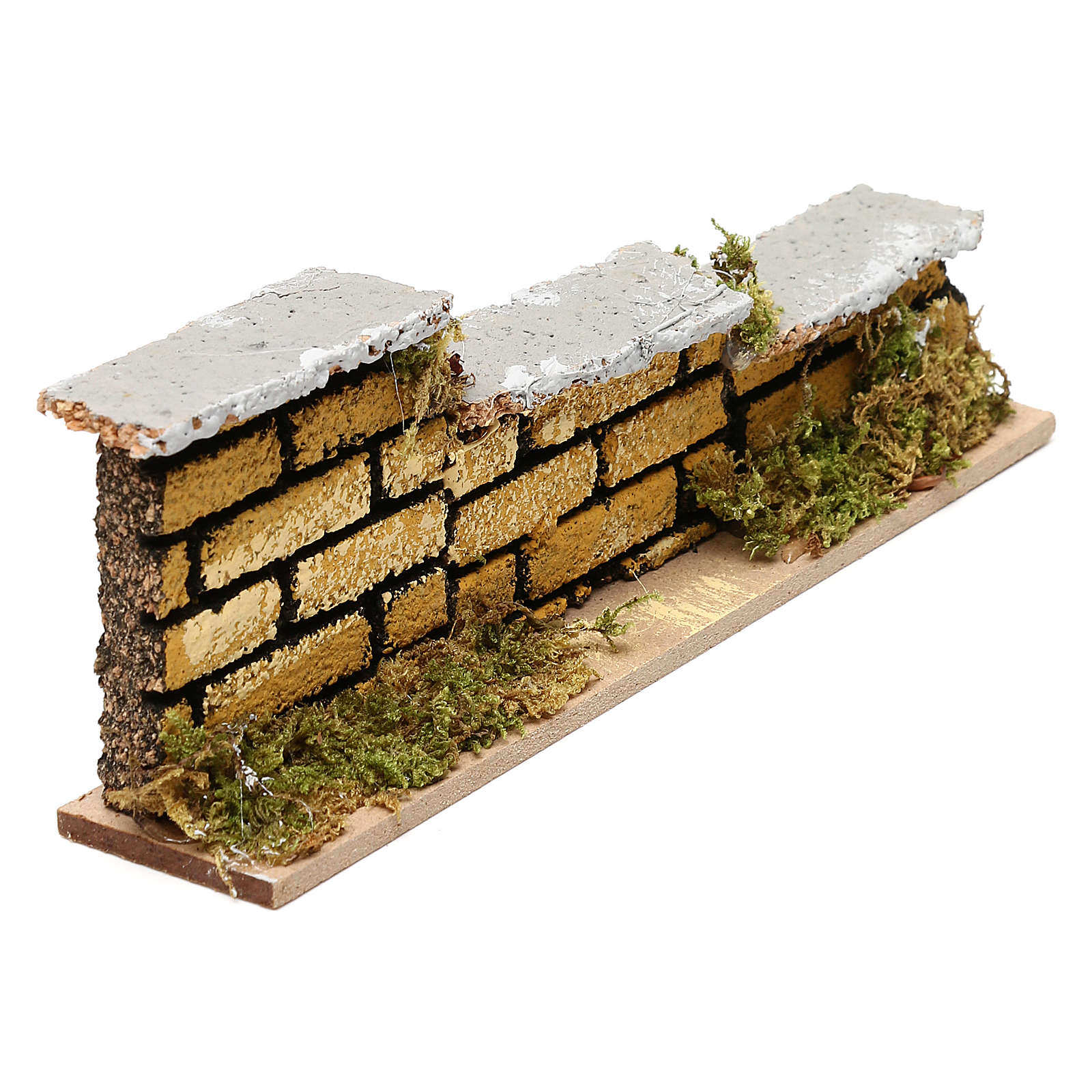 Nativity accessory, low brick wall 15x5x3cm 4