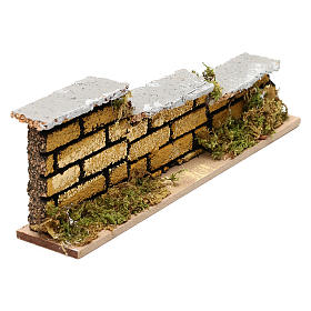 Nativity accessory, low brick wall 15x5x3cm s2
