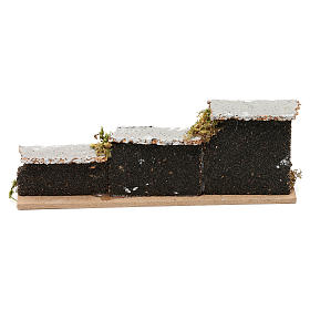 Nativity accessory, low brick wall 15x5x3cm s3