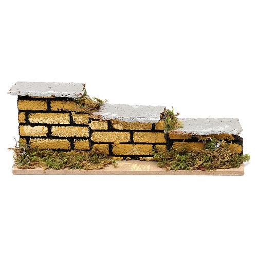 Nativity accessory, low brick wall 15x5x3cm 1