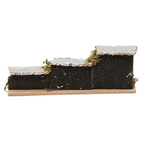 Nativity accessory, low brick wall 15x5x3cm 3