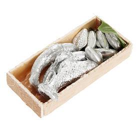Comida en miniatura: Cajón de pescado belén 7 x 3 cm.