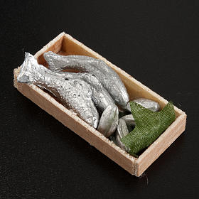 Mini-caisse de poissons crèche 7x3 cm s2