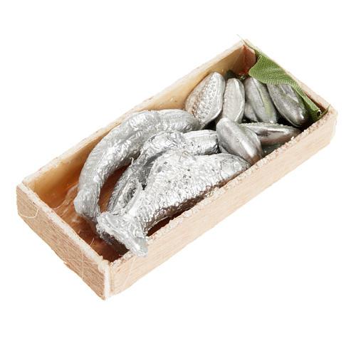 Mini-caisse de poissons crèche 7x3 cm 1