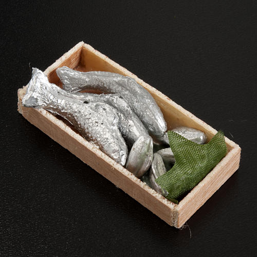 Mini-caisse de poissons crèche 7x3 cm 2
