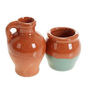 Small anphoras in terracotta 2 pc diam 2,5 cm s1
