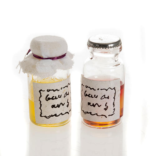 Nativity set accessories, jars 1