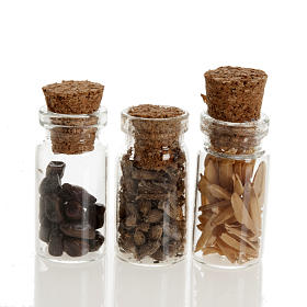 Nativity set accessories, jars with spices s1
