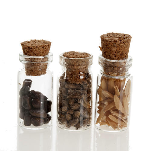 Nativity set accessories, jars with spices 1