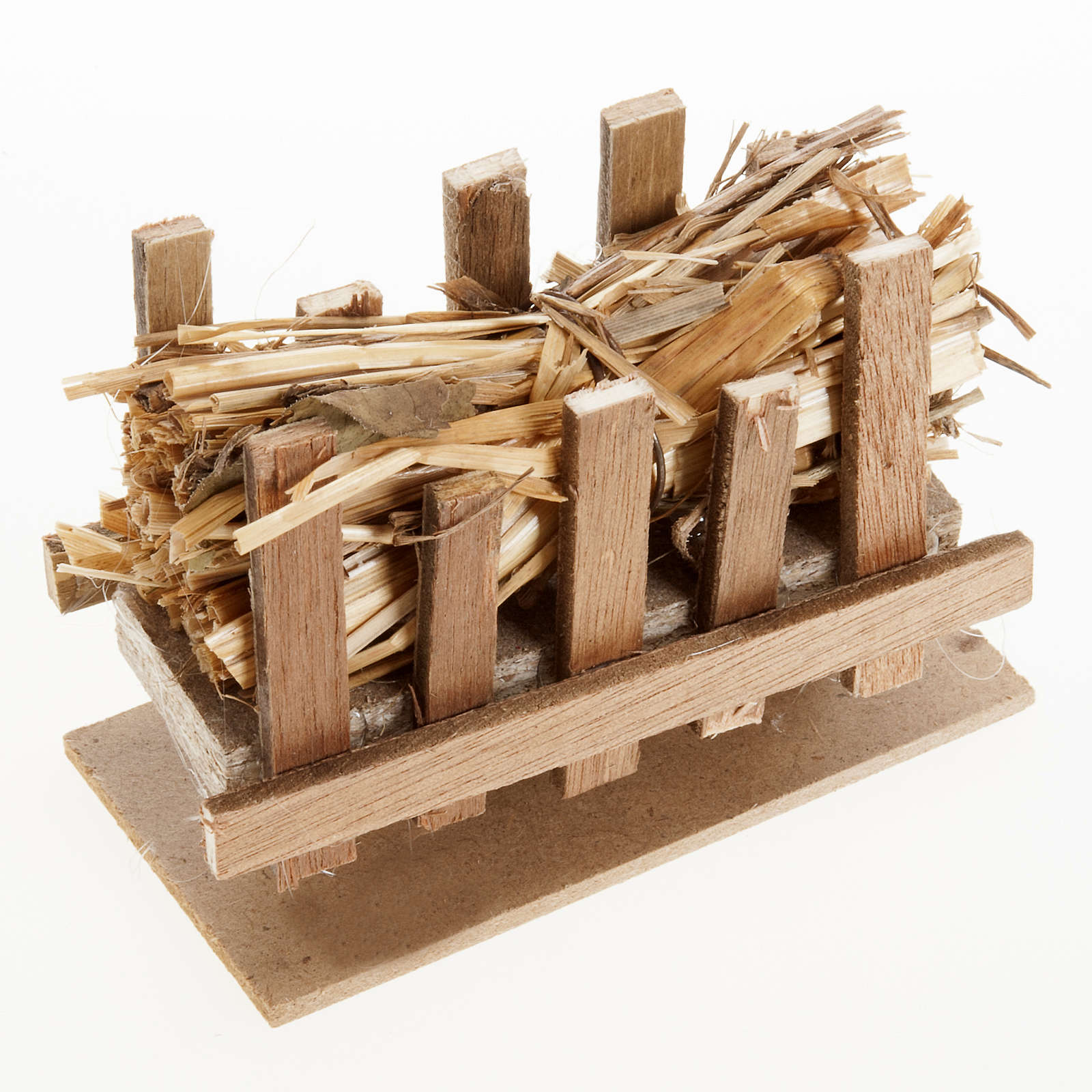 Nativity accessory, manger with straw, 10x5cm 4