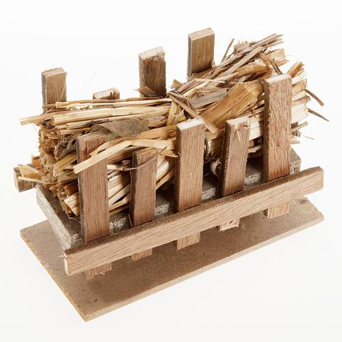 Nativity accessory, manger with straw, 10x5cm 1