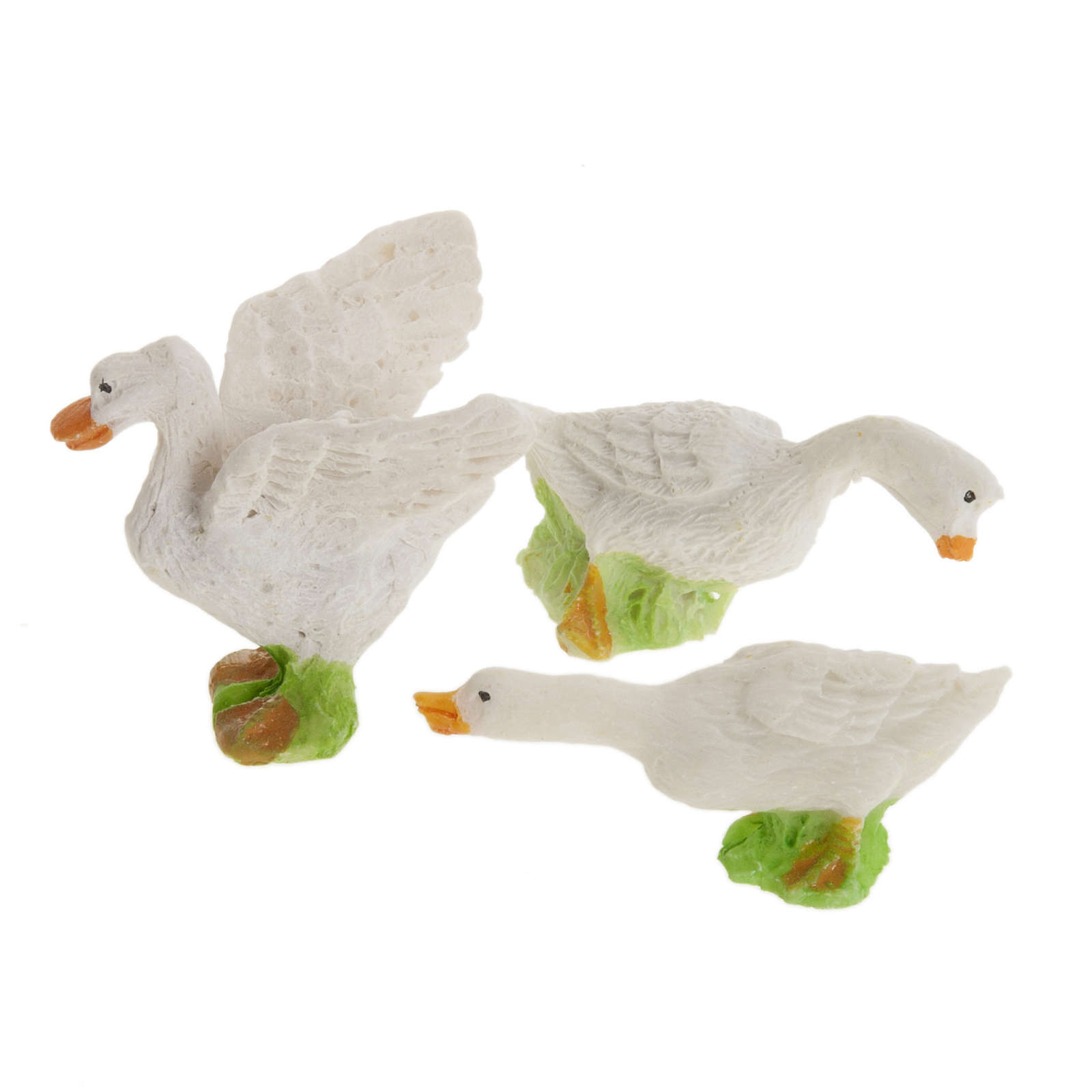 Nativity figurines, geese in resin 12cm, set of 3 3
