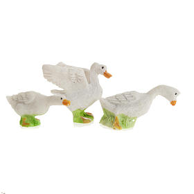 Nativity figurines, geese in resin 12cm, set of 3 s3