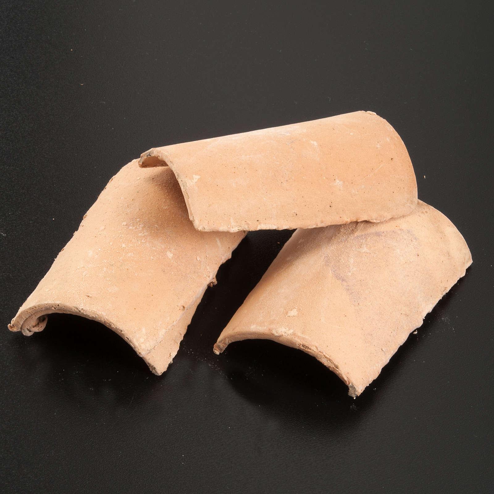 Tuiles en miniature pour crèche 6x8.5 lot 3 pc 4