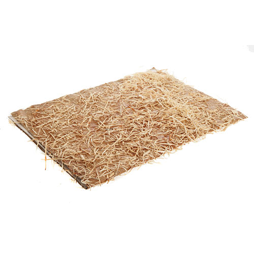 Floor for nativities: sheet with hay measuring 35x50cm 1
