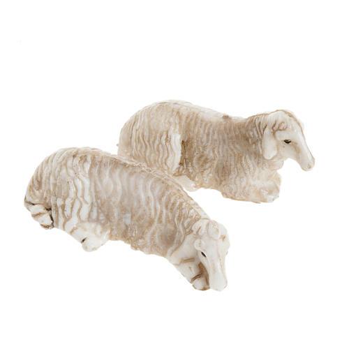 Pecore sdraiate presepe 8 cm set 2 pz. 1