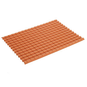 Tetto presepe tegole color terracotta 35x25 s1