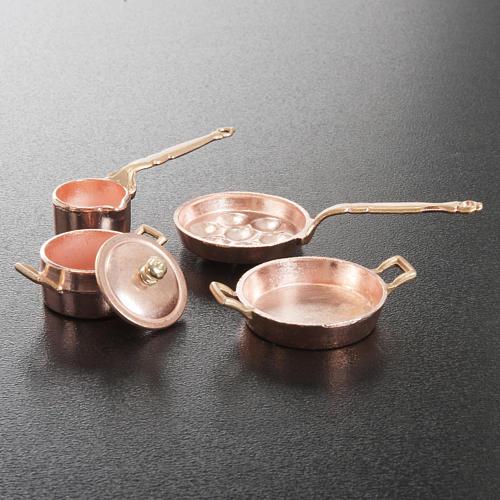 Sartenes para el belén metal set 4 piezas 3