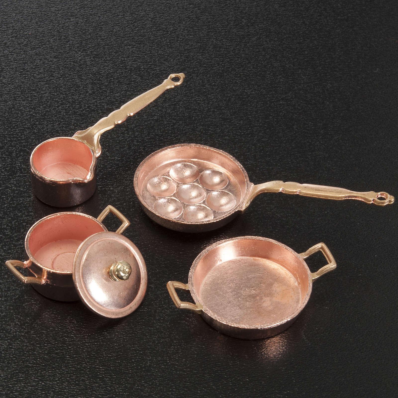 Caçarolas e panelas presépio metal conjunto 4 peças 4