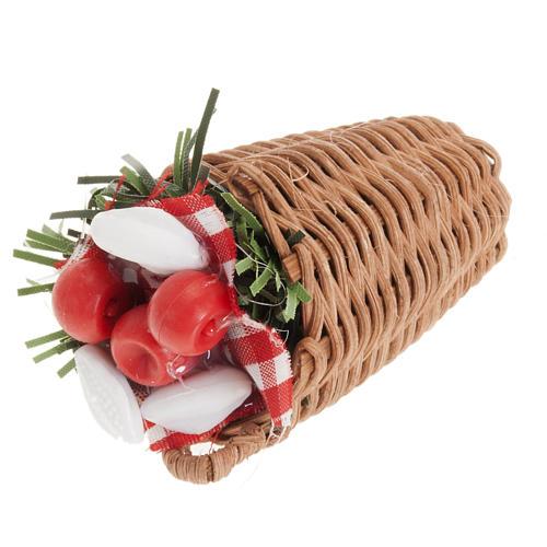 Nativity scene accessory, vegetable basket 1