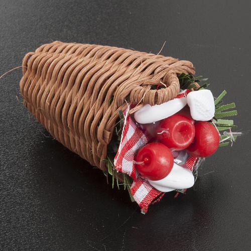 Nativity scene accessory, vegetable basket 2