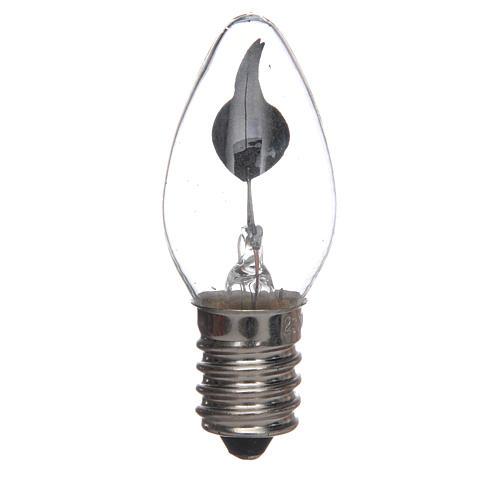 Lampadina effetto fiamma presepe 1,5W E14 1