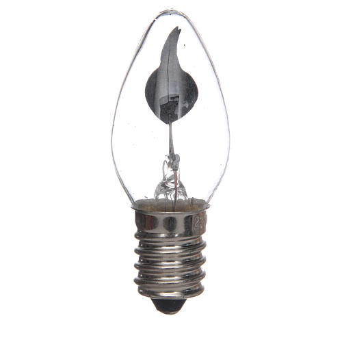 Light with flame effect for nativities, 1.5W, E14 1