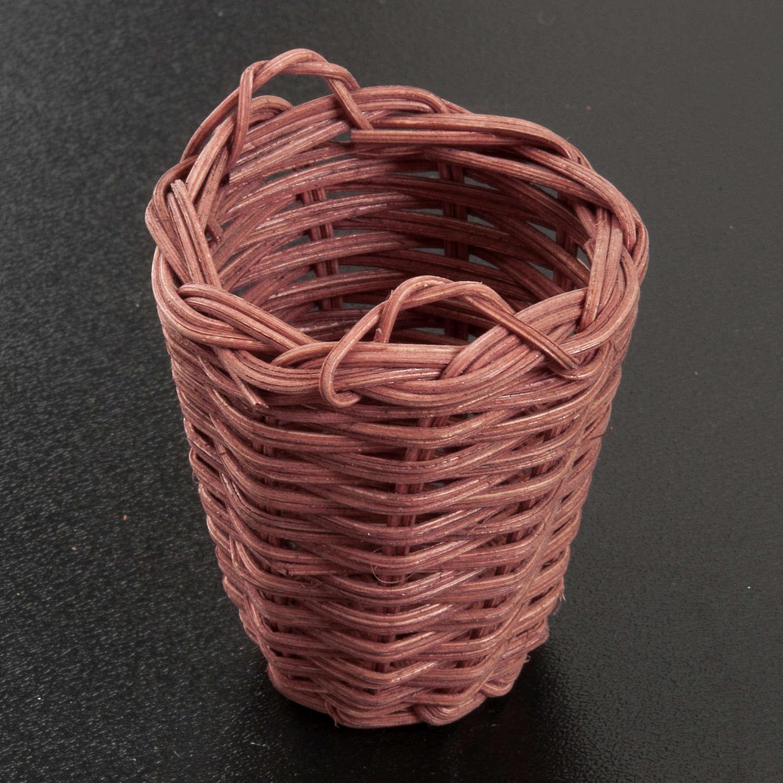 Panier en osier miniature crèche 5 cm 4