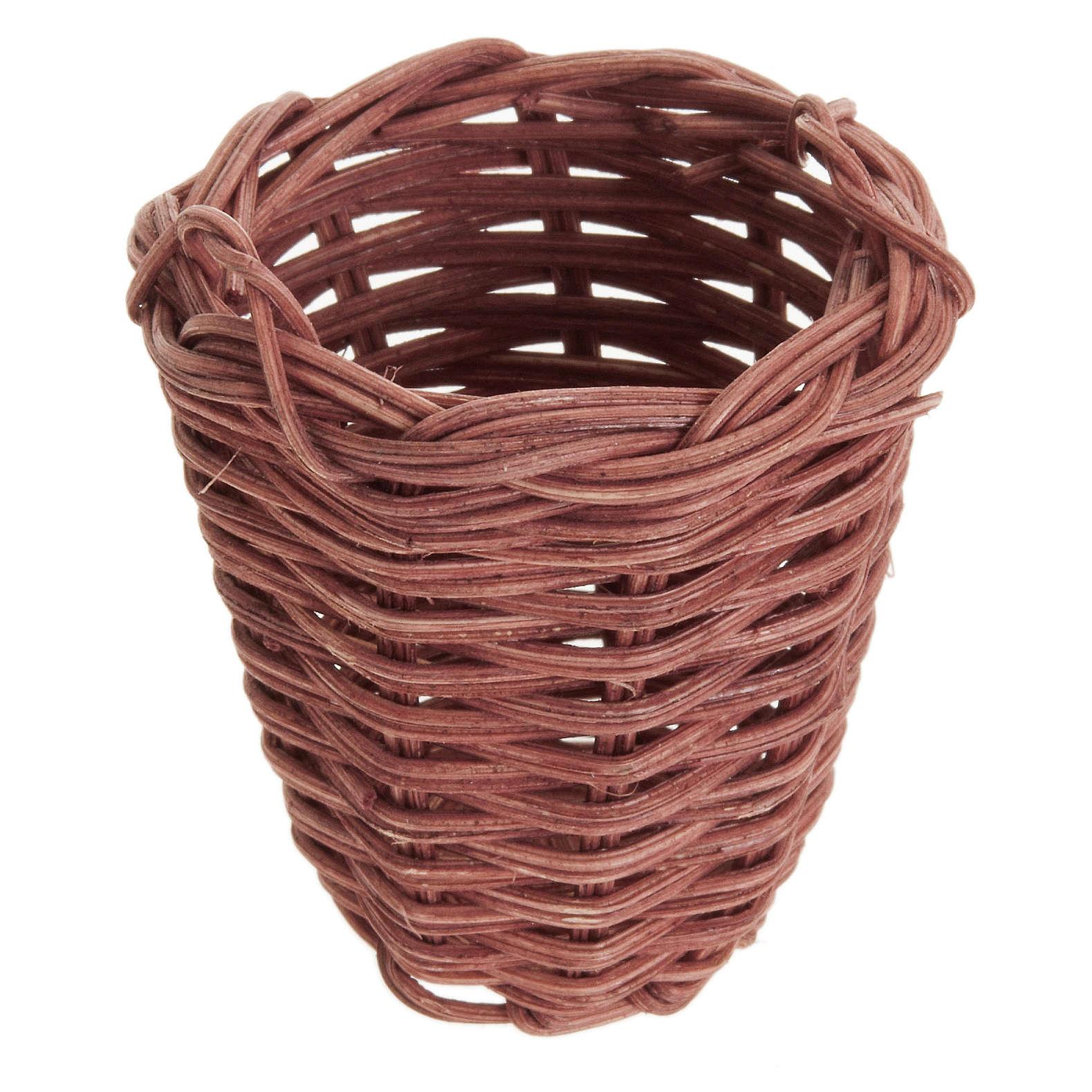 Nativity accessory, wicker basket 5cm 4