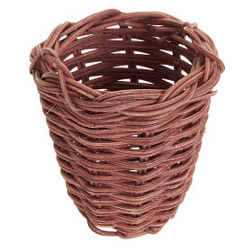 Home accessories miniatures: Nativity accessory, wicker basket 5cm