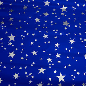 Nativity scene backdrop, sky with silver stars 70 x 100cm s1