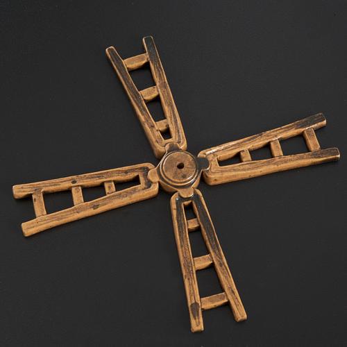 Pá resina moinho de vento 14 cm 2