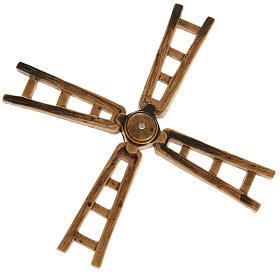 Nativity accessory, windmill vane in resin, 14cm s1