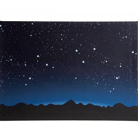 Sfondo presepe luminoso led cielo e montagne 70x50cm s1