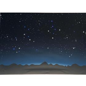 Sfondo presepe luminoso led cielo e montagne 70x50cm s2