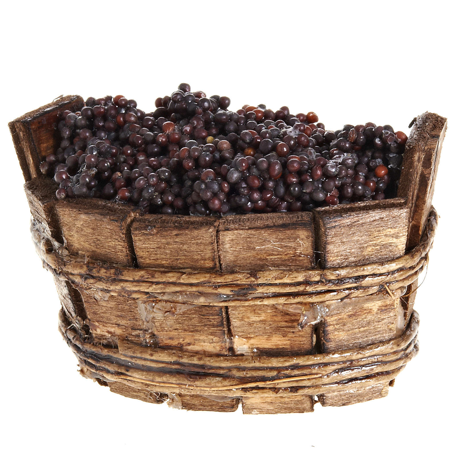 oval basket with red grapes 4